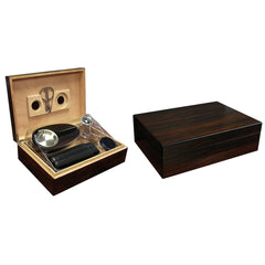 Davenport Humidor Kit - 40 Cigar Count - Matching Accessories