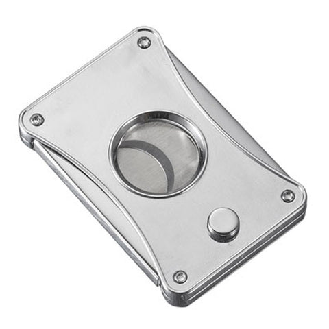 Dion - Brushed Chrome Cigar Cutter - Visol - Shades of Havana