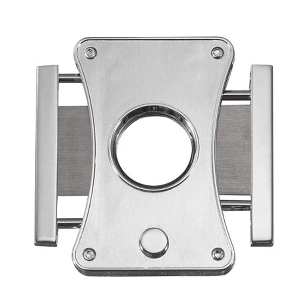 Dion Brushed Chrome Guillotine Cigar Cutter - Shades of Havana