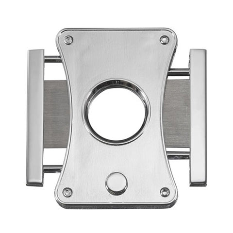 Image of Dion Brushed Chrome Guillotine Cigar Cutter - Shades of Havana