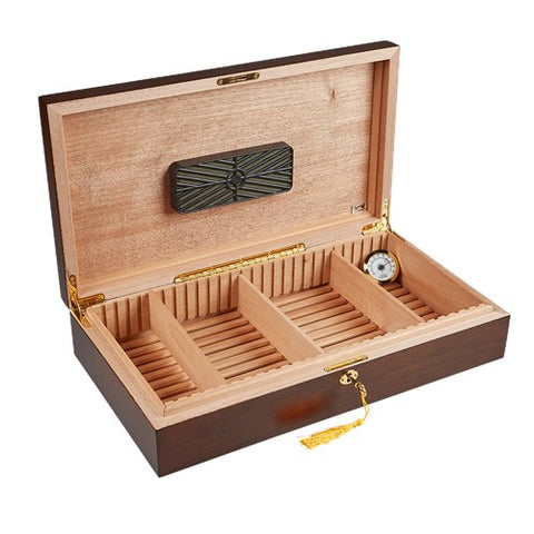 Dorado Distressed Heart Wood Humidor - 180 Cigar Capacity