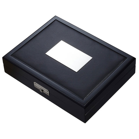 Image of Drako Black Travel Humidor 19 Cigar Count - Shades of Havana
