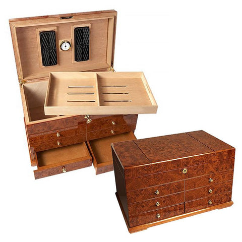 Image of El Diablo Humidor 300 Cigar Count - Shades of Havana