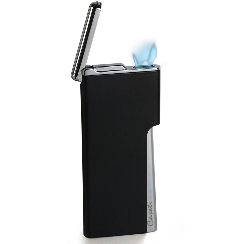 Elegante - Ultra-Slim Torch Lighter - Black Matte - Caseti - Shades of Havana