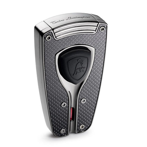 Forza - Black Carbon Fiber Cigar Lighter - Tonino Lamborghini - Shades of Havana