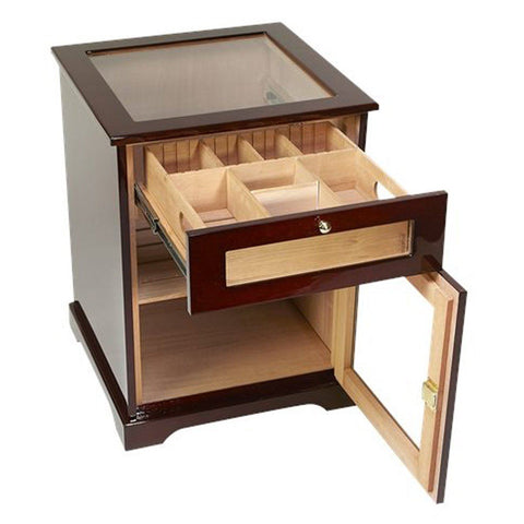 Galleria End Table Humidor Cabinet 600 Cigar Count - Shades of Havana