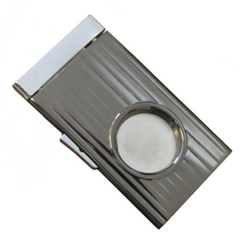 Gunmetal Retractable Guillotine Cigar Cutter- 58 Ring Gauge