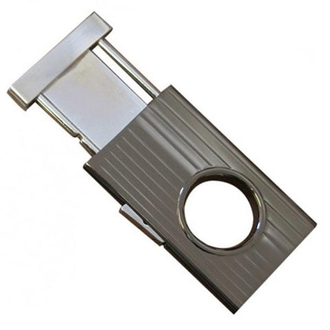 Image of Gunmetal Retractable Guillotine Cigar Cutter- 58 Ring Gauge - Shades of Havana