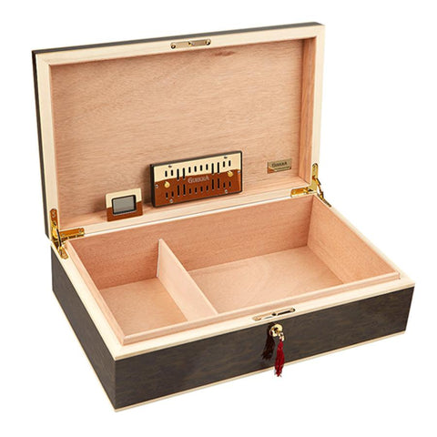 Image of Gurkha Lugano Series Founder's Desktop Humidor 120 Cigar Count - Shades of Havana