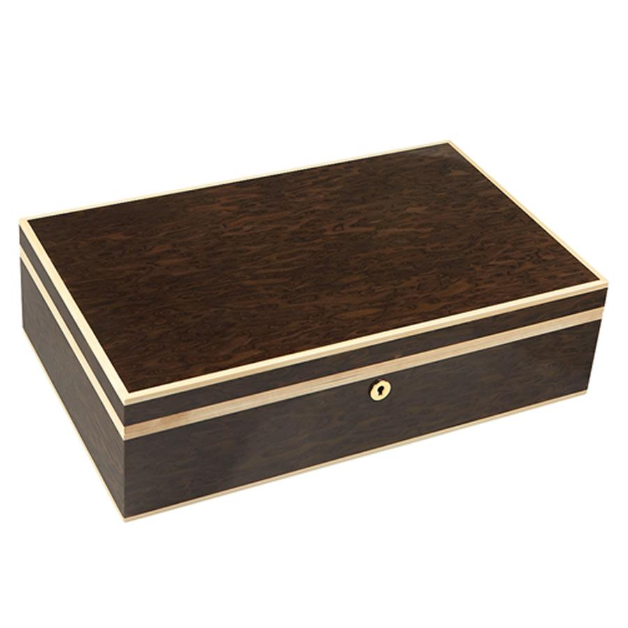 Gurkha Lugano Series Founder's Desktop Humidor 120 Cigar Count - Shades of Havana