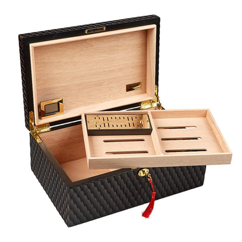 Gurkha Lugano Series - Heritage Desktop Humidor 100 Cigar Count - Shades of Havana