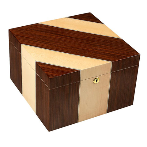 Image of Gurkha Lugano Series Master Desktop Humidor 100 Cigar Count - Shades of Havana