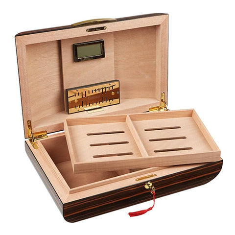 Image of Gurkha Lugano Series Signature Dome Desktop Humidor 75 Cigar Count - Shades of Havana