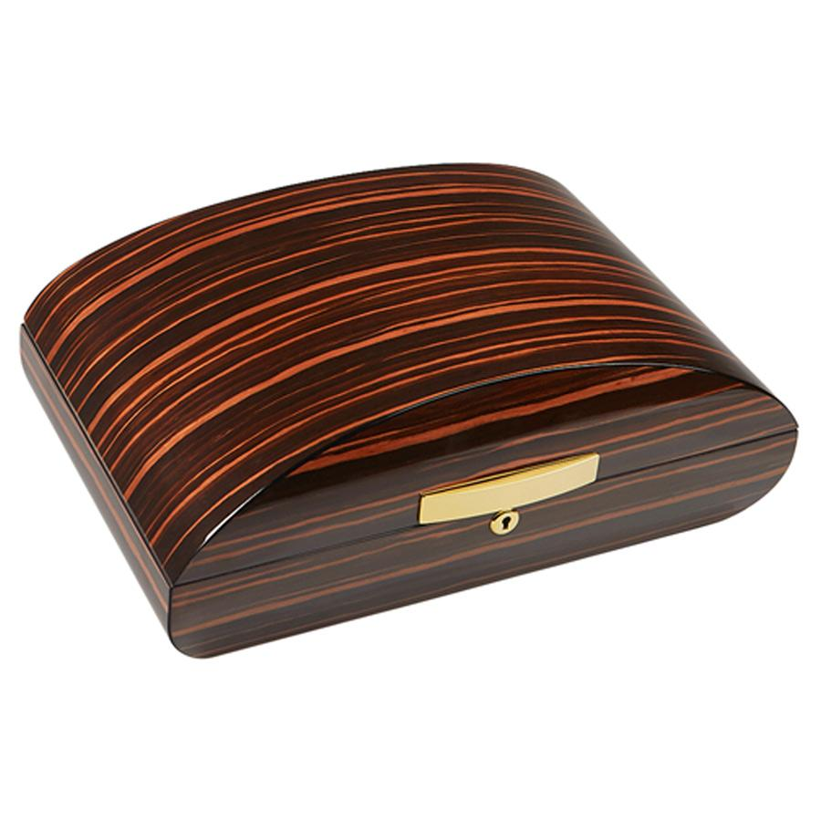 Gurkha Lugano Series Signature Dome Desktop Humidor 75 Cigar Count - Shades of Havana