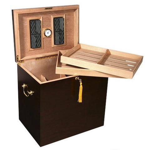 Image of Havana Foot Locker Humidor 300 Cigar Count | Walnut Finish - Shades of Havana