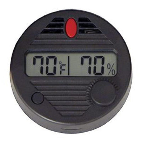 Image of HygroSet II Round Digital Hygrometer - Shades of Havana