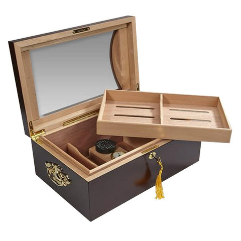 Il Duomo Glass Top Display Humidor | 150 Cigar Count