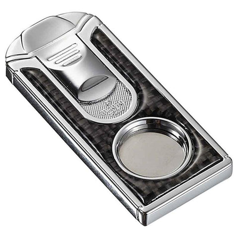 Image of Razor Carbon Fiber Stainless Steel Cigar Cutter - Shades of Havana