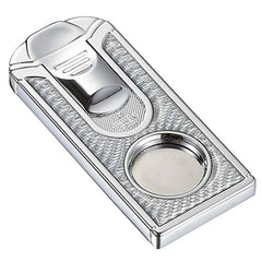 Razor White Carbon Fiber Stainless Steel Cigar Cutter