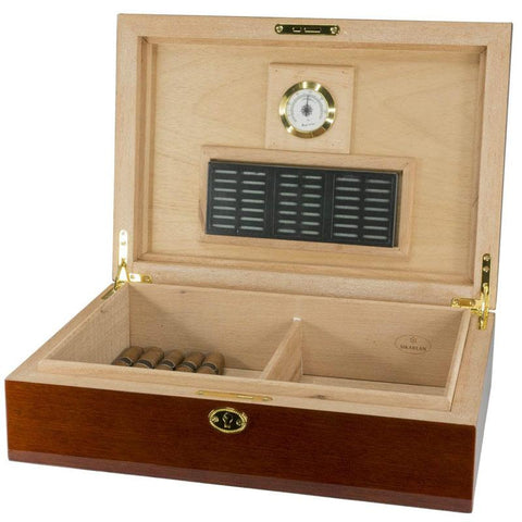 Laquered Finish 80 Cigar Count Humidor - Shades of Havana