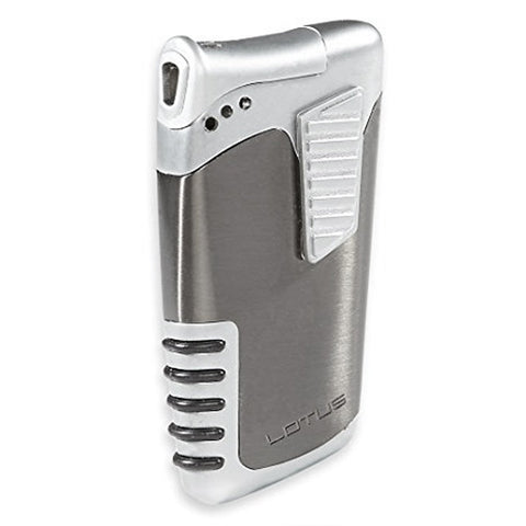 Lotus L25 - Double Down Dual Flame Lighter - Matte Gunmetal - Shades of Havana