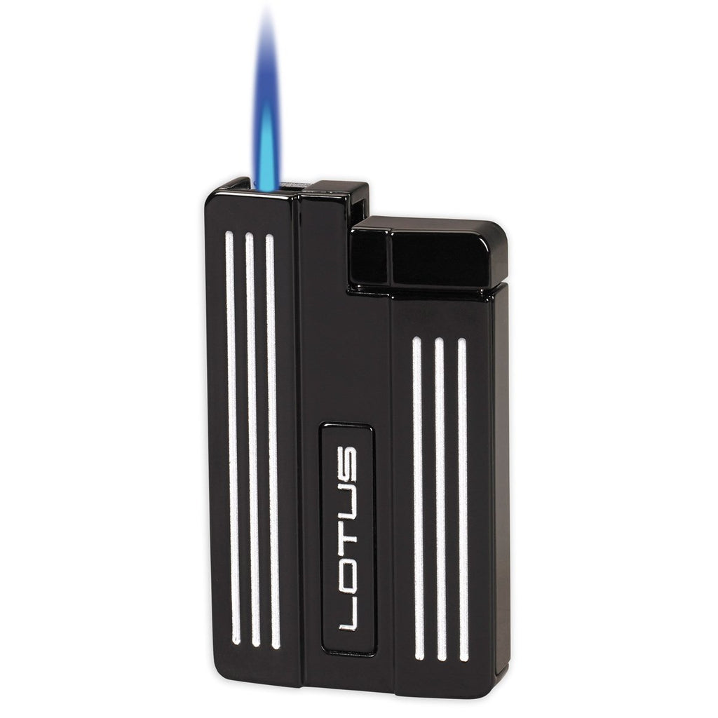Lotus L57 Moto - Single Jet Flame Cigar Lighter - Gray & White - Shades of Havana