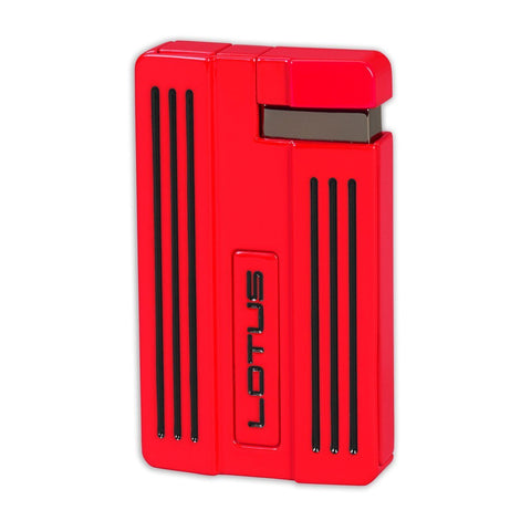 Lotus L57 Moto - Single Jet Flame Cigar Lighter - Red & Black - Shades of Havana