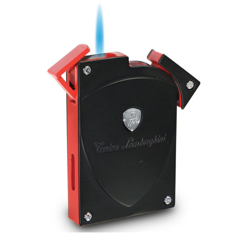 Lynx - Black With Accent Torch Flame Lighter - Tonino Lamborghini - Shades of Havana