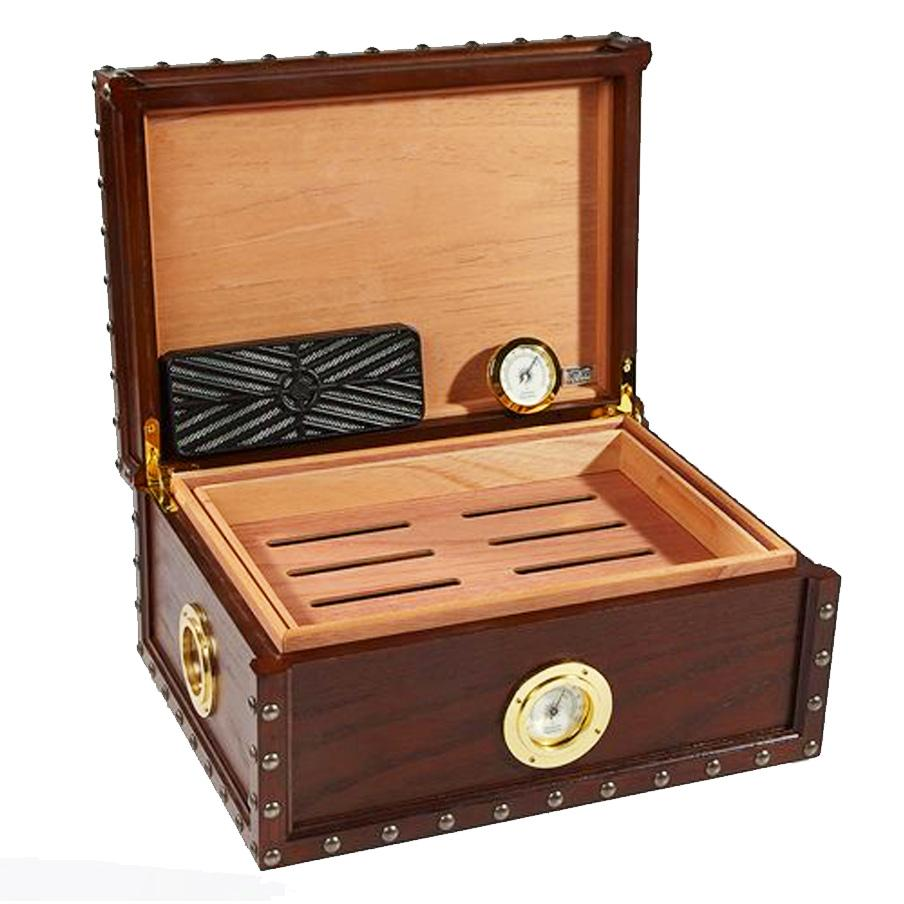 Maiden Voyage Antique Humidor Supreme 100 Cigar Count - Shades of Havana
