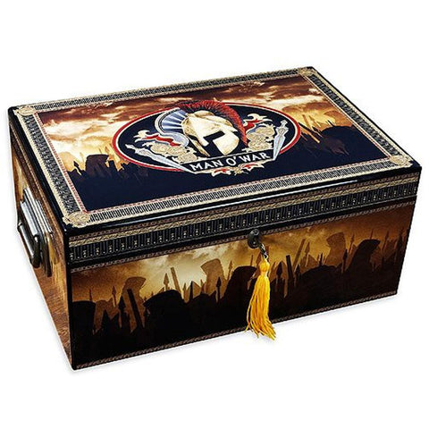 Image of Man O' War Humidor 100 Cigar Count - Shades of Havana