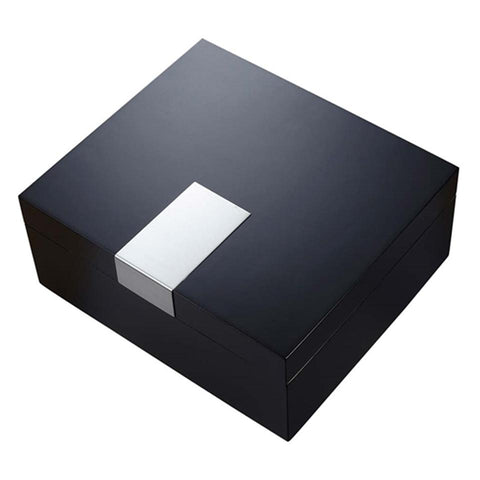 Image of Marcus Matte Black Humidor 50 Cigar Count - Shades of Havana