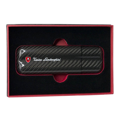 Matrix - 2 Finger Carbon Fiber Cigar Case - Tonino Lamborghini - Shades of Havana