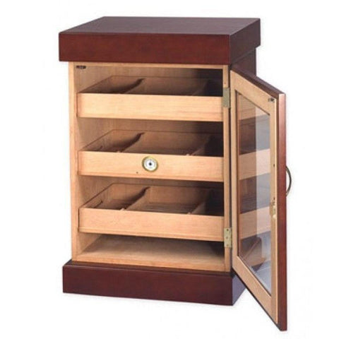 Image of Bravos Humidor Cabinet Mini Cigar Tower 1000 Cigar Count - Shades of Havana