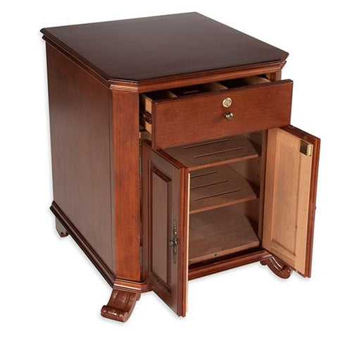 Image of Montegue End Table Humidor 1000 Cigar Count - Shades of Havana