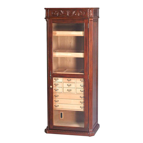 Olde English Cabinet Humidor - Antique Style - Holds 3500 Cigars - Shades of Havana