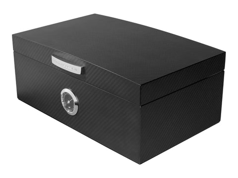 Porsche Design - Carbon Fiber & Spanish Cedar Humidor - Holds 50 Cigars - Shades of Havana