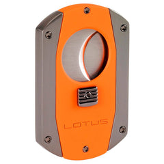 Lotus Prestige 60 Gauge Guillotine Cigar Cutter (Rubberized Orange & Gun Pearl) - Shades of Havana