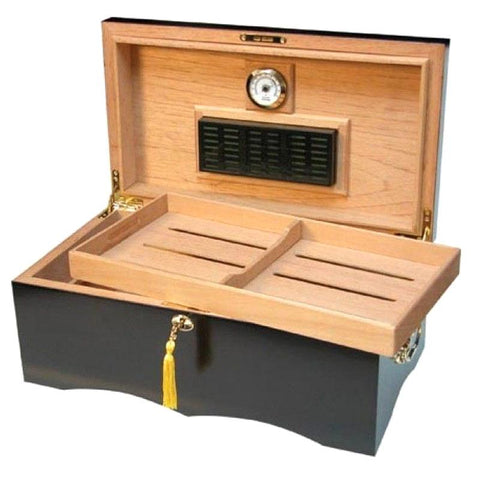 Cordoba Large Humidor 200 Cigar Count | Walnut Finish - Shades of Havana