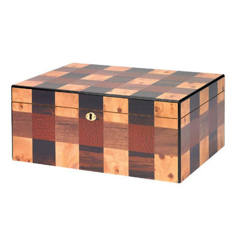 Image of Othello Humidor Checkerboard 100 Cigar Count - Shades of Havana