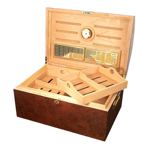 Image of Treasure Dome Humidor Chest 250 Cigar Count - Shades of Havana