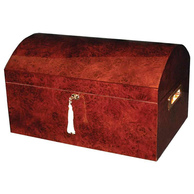 Treasure Dome Humidor Chest 250 Cigar Count - Shades of Havana