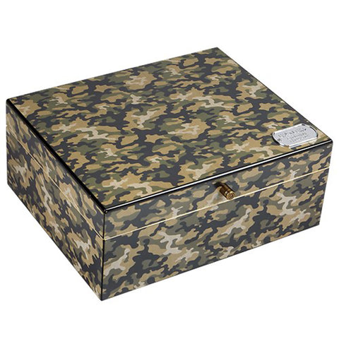 Rambo Humidor - Camouflage Finish - Shades of Havana