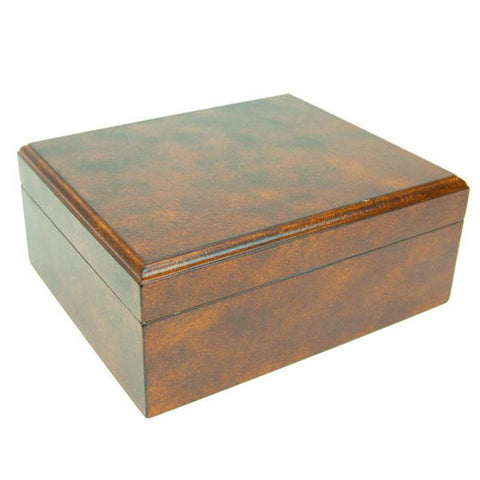 Image of Rawhide 50 Cigar Humidor With Crackel Finish - Shades of Havana