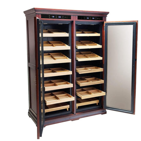 Reagan Electronic Humidor Cabinet - 4000 Cigar Count - Electric Controls