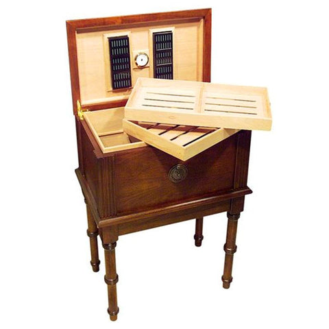 Image of San Marco 300 Cigar Count End Table Humidor - Shades of Havana