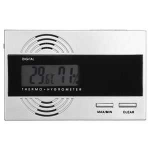 Silver Digital Thermo Hygrometer for Cigar Humidors - Shades of Havana