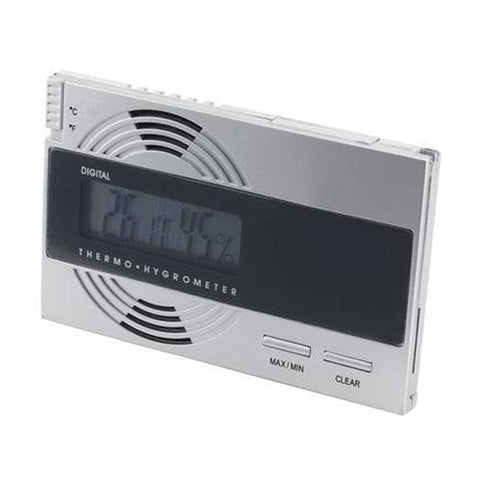 Silver Digital Thermo Hygrometer for Cigar Humidors