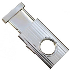 Silver Retractable Guillotine Cigar Cutter- 58 Ring Gauge - Shades of Havana