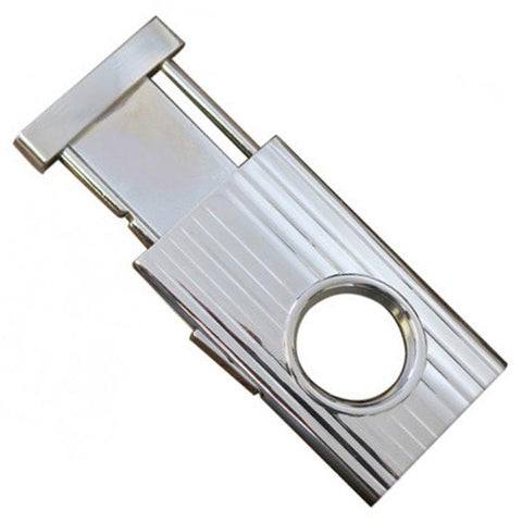 Image of Silver Retractable Guillotine Cigar Cutter- 58 Ring Gauge - Shades of Havana