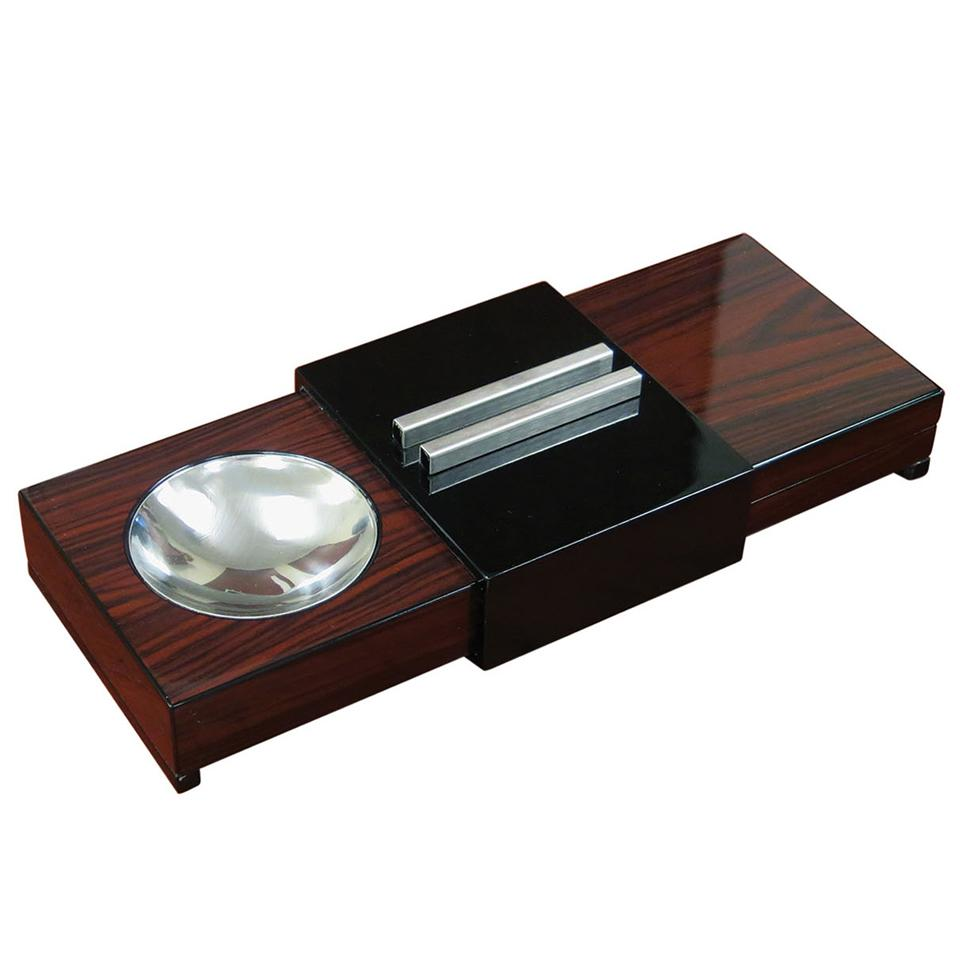Sliding Ashtray Humidor | Brazilian Rosewood - Shades of Havana